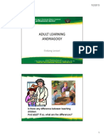 Adult Learning Andragogy