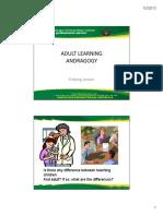 Adult Learning Andragogy
