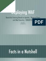 WAF / ModSec + OWASP CRS