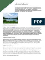 Tips Liburan di Wisata Alam Indonesia