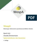 Systemstrukturen - Deutsche Grammatik