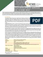 ICDS Scheme Brief