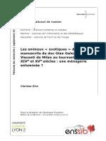 60257 Les Animaux Exotiques Dans Les Manuscrits Du Duc Gian Galeazzo Visconti de Milan Au Tournant Des Xive Et Xve Siecles Une Menagerie Enluminee