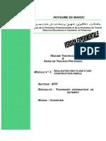 M05 - Réalisation Des Plans Dune Construction Simple BTP-TDB