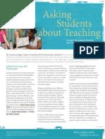 Asking Students Summary Doc