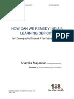 RemedyIndiasLearningDeficit