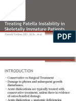 Patellar Instability in Pediatric Patients