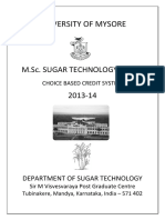 M.sc Sugar Tech Syllabus
