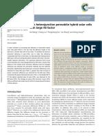 Bulk Heterojunction Perovskite Hybrid Solar Cells With Large Fill Factor