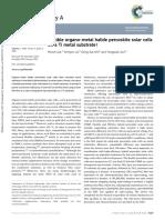 Flexible Organo-metal Halide Perovskite Solar Cells on a Ti Metal Substrate