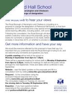 Parkwood Hall Leaflet