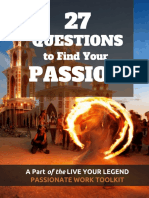 27 Questions to Find Your Passion