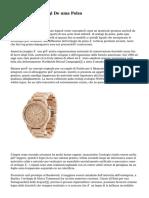 Storia Degli Orologi De uma Polso