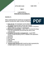 Storage & Wareousing (Quiz3)
