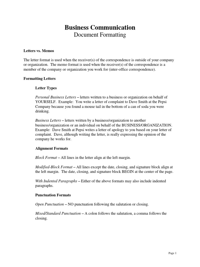 Formatting punctuation memorandum spiritdancerdesigns Choice Image