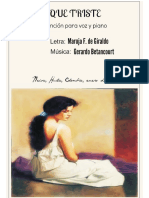QUE TRISTE. Canción. Letra Maruja F. de Giraldo, música Gerardo Betancourt.
