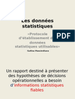 Les Donnees Statistiques