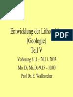Lithosphaere V