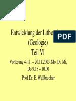 Lithosphaere VI