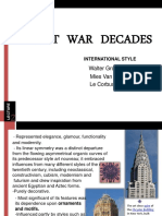 Post War Decades-International Style