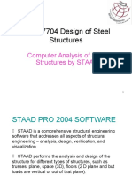 Design of Steel STAAD