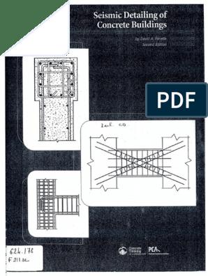 Seismic Detailing of Concrete Buildings | Earthquakes