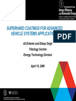 Superhard Coatings for Advanced Vehicle Systems Applications