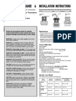 Owners Guide and Install Instructions