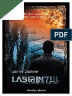 James Dashner Captiv in Labirint 3 Tratament Letal v 2 0