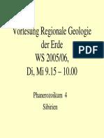 Regionale Geologie Phanerozoikum 4 Sibirien