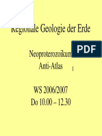 Regionale Geologie Neoproterozoikum 2 Anti Atlas