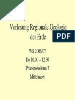 Regionale Geologie Phanerozoikum 7 Mittelmeer