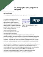 Fundamentación Pedagógica Para Propuestas Curriculares