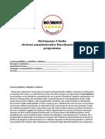Programma Amministrativo m5s Bucchianico 2014