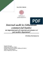 Internal Audit in banks