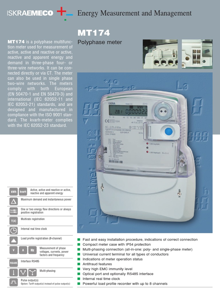 MT174 Polyphase meter | Electric Power | Electromagnetism