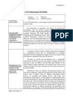 nfdn 2005 report on progress of professional portfolio