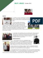 prayer letter oct 2015