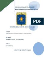 Norma Os.010 RESUMEN DE LA NORMA  OS.010 Y OS.0100