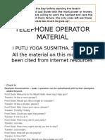 Telephone Operator Material