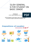 English General Lesson for Student on Basic Grade