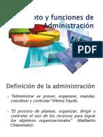 1.Concepto y Funciones de Administración