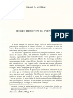 «Revistas Filosóficas em Portugal»
