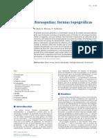 2014 Bursopatías, Formas Topográficas