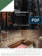 Pottermore Calendar 2016