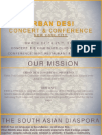 Urban Desi Concert & Conference 2016 Sponsorship Package