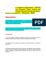 PhD admission Guidance Registration – MTECH Thesis Synopsis Research Paper writing and editing – Dissertation Research Guide allocation  Module development – Bangalore - INDIA