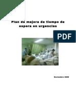 Plan de Mejora de Tiempo de Espera en Urgencias