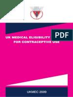 UK Contraceptive Use 2009
