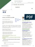 Arquitectura y Bases de Datos
